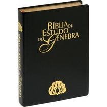 Bíblia De Estudo Genebra Grande Luxo Preta Frete Grátis