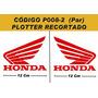 Kit Adesivos Asa Honda - Plotado - Código P008-2 - 12 Cm