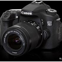 Câmera Canon 70d Wi-fi +18-55 Stm +sandisk16gb +case +tripe
