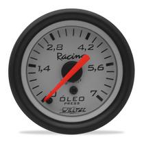 Relógio Manômetro 52mm Pressão De Óleo 7kg Branco Willtec