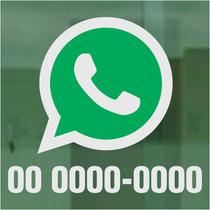 Adesivo Whatsapp Para Carro E Lojas 21x19cm