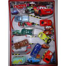 Kit Carros 8 Miniaturas Disney Macqueem Filme Carros 2