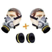 Kit Com 2 Mascaras Facial Simples C/ 4 Filtros Pintura/gases