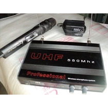 Um Microfone S/ Fio Skp Profissional 550 Mhz Uhf Perfeito