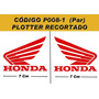 Kit Adesivos Asa Honda - Plotado - Código P008-1 - 7 Cm