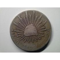 Moeda Mexico 8 Reales Zacateca 1838/70 -m- Prata
