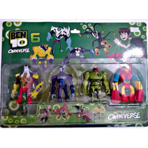 Kit Ben 10 Com 4 Personagens Aliens Bonecos Miniaturas Ben10