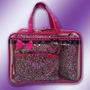 Necessaire Organizador 4 Bolsas Porta Maquiagem Cosmeticos