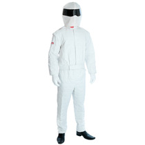 Competindo Costume Driver - Medium Mens Terno Branco Fantasi