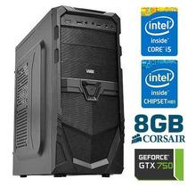 Computador Gamer Microxi5 - Gtx 750 - Intel I5 - 8gb - 1tb