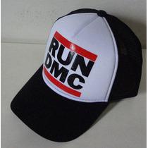 Boné Run Dmc Hip Hop Trucker Cap Aba Curva