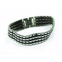Pulseira/corrente/bracelete/algema Masculina Aço Malone