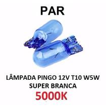 Par Lâmpada Pingo 5000k Super Branca T10 W5w Tipo Philips
