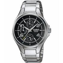 Relógio Casio Edifice Ef-316 D Análogo Calendário Wr-100m Pt