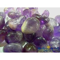 Ametista Rolada/1 Kilo - 100 Pedras Roladas, Naturais
