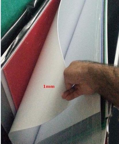 Chapa placa ps poliestireno branca 1mm x 50cm x 50cm r 11 - Placa de poliestireno ...