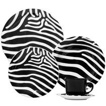 Aparelho De Jantar Redondo 20 Peças Floreal Zebra - Oxford