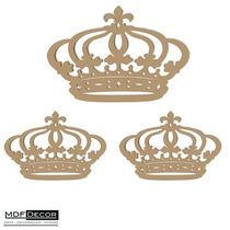 Kit 3 Coroas De Mdf 1 - 80cm E 2 - 60cm Decoração De Festas