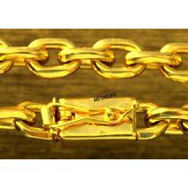 Corrente Cordão Big + Pulseira Banhada A Ouro 18k 11mm