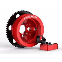 Kit Roda Fônica Fueltech Poli-v Vw Ap 8v Vermelha Turbo Aspr