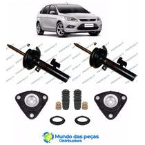 Kit + Par Amortecedor Dianteiro Ford Focus 2008 A 2014 A Gas
