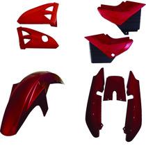 Carenagem Traseira Ybr 125 Vermelho 2005 A 2008 Kit Completo