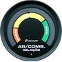 Hallmeter 52mm Cronomac Street Preto Air/fuel Manômetro Led