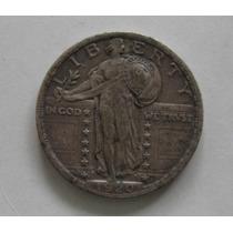 Usa: Prata - Bela Moeda Quarter Dollar 1920 Rara