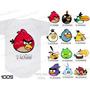 Kit 12 Body Mesversario Angry Birds Personalize Nome