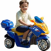 Moto Elétrica Infantil Om1858b Max Speed Azul 12v - Brink+