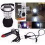 Kit Lampião Solar 36 Leds + Lanterna Holofote 3 Baterias