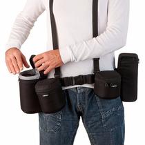 Kit Porta Lente Flash Cinto Suspensório C5 Case Bag Alhva
