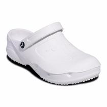 Sapato Crocs Fechado Kemo Branco Profissional+meia
