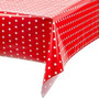 Toalha Mesa Dos Convidados Vermelha De Bolinhas Brancas- 20u