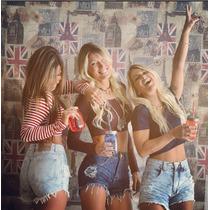 Shorts Feminino Customizados Cintura Alta Cos Alto Jeans