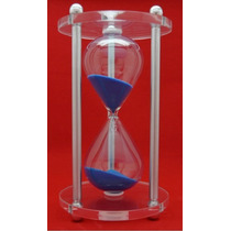 Relógio De Areia/ Ampulheta Em Acrílico Azul E Rosa 3 Min