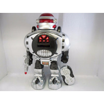 Robo Incrível Fala Anda Dança Lança Discos Controle Remoto