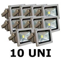 10 X Refletor Led Holofote 30w Bivolt Prova Água Branco Frio