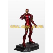 Boneco Homem De Ferro / Iron Man - Estátua Em Resina 33 Cm