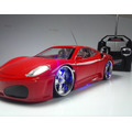 Carro Controle Remoto Ferrari  Leds Nas Rodas & Farol