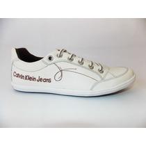 Sapatênis,tênis Calvin Klein Jeans 100% Couro - Ref:8036
