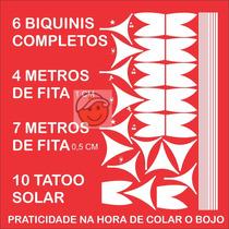 Biquini Adesivo Bronzeamento Natural + Tatu Solar + Fita