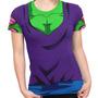 Camiseta Baby Look Piccolo Daimaoh Dragon Ball Z Fantasia