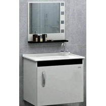 Gabinete Toucador P/ Banheiro, Com Pia E Espelheira Premium