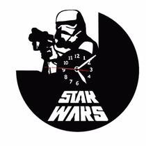 Star Wars Storm Trooper - Relógio De Parede - Disco De Vinil