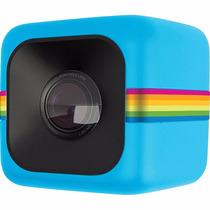 Filmadora Poladoid Cube Azul Câmera De Ação Hd Digital
