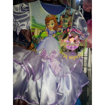 Vestido Fantasia Roupa Aniversário Princesa Sofia