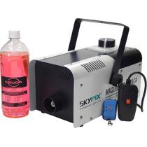 Máquina De Fumaça 1000w C/ Controle+liquido+frete Gratis