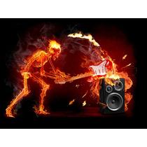Quadros Rock Heavy Metal Guitarra Tamanho Grande 90 Cm