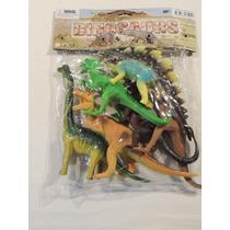 Kit 6 Dinossauros De Borracha - Cod 01